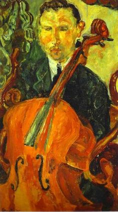 TICMUSart: The Cellist (Serevitsch) - Chaim Soutine (1916) (I.M.)