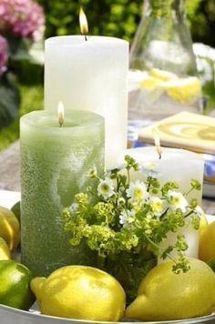<3  lemon candles