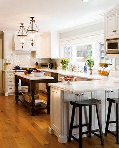 All Time Best Useful Tips: Narrow Kitchen Remodel Countertops kitchen remodel pantry.U Shaped Kitchen Remodel Stools mid century kitchen remodel islands. New Kitchen, Kitchen Decor, Awesome Kitchen, Beautiful Kitchen, Design Kitchen, Kitchen White, Kitchen Ideas, Kitchen Runner, 1960s Kitchen