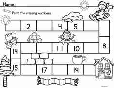 Winter Count to 20 includes 3 Math Center Activities and 10 Worksheets to reinforce counting and number order to 20.