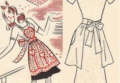 Vintage+Apron+Patterns+Free | Free Patterns for 1930's and 1940's Crafts