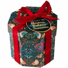 Christmas Bathtime Favourites - a hat-box can be reused in so many different ways!