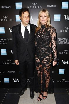 Jamie Hince and Kate Moss - V&A Alexander McQueen Savage Beauty Opening Gala - click through to see all the guests