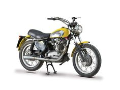 The 1973 Ducati 450 Scrambler is the latest addition in the House of Bologna line-up, and sports an air-cooled, four-stroke, 436cc, s...