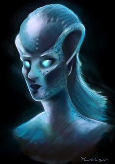 Alien for Sci-fi magazine by Musiriam