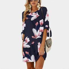 Femme Floral Haut encolure carrée à bretelles Tunique Jersey moulante Mini robe