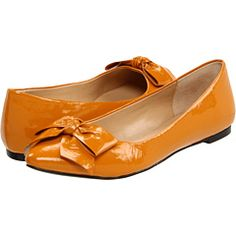 need to start buying better quality shoes. These orange flats might be a good place to start $75