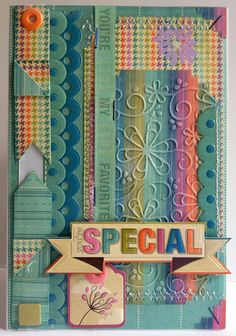 amazing detail on this card using Xyron adhesive and WRMK papers!