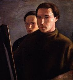 Giuseppe Capogrossi (Italie, 1900-1972) – Autoritratto con E. Cavalli (1927)