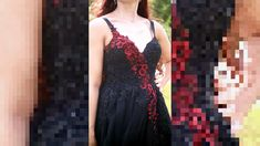 Black Red Lace Evening Dress with handembroidery with seed beads and Swarovski crystals by Design Halloween gothic style dress. Corset dress Size S-M You can find more dresses by in my shop Ask if you have some questions! Have a nice day! Black Evening Dresses, Formal Dresses, Open Back Dresses, Lace Maxi, Red Lace, Gothic Fashion, Fashion Dresses, Sith, Seed Beads