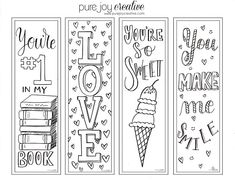 A Glimpse Inside: fun FREE Valentine's Day bookmarks!!