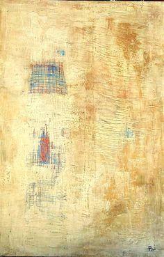 """""""Rasgos de caminos"""" Mixta Sobre madera 139 x 81 cm 2015. Vendido"""