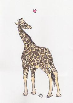 Giraffe Dreams by mariessketchbook