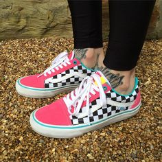 Vans sneakers uploaded by ♡ sierra ♡ on We Heart It Vans Sneakers, Vans Customisées, Converse, Vans Men, Custom Vans Shoes, Vans Old Skool Custom, Cute Vans, Aesthetic Shoes, Vans Outfit