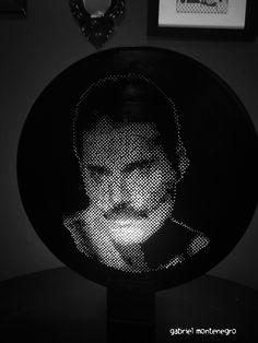 luminária em vinil LP(Freddie Mercury)