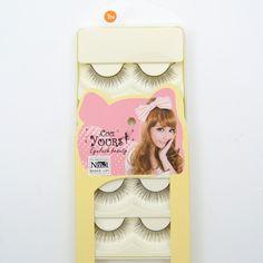 5 pairs/pack Eyelashes Black Natural Long False Eyelash Soft Lashes Handmade Makeup Fake Eye Lashes Extension T04