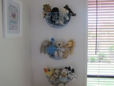 garden baskets for storing stuffed toys in a children's room