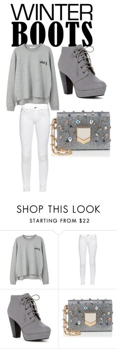 """""""grey today"""" by jstoudemire10 ❤ liked on Polyvore featuring MANGO, rag & bone and Jimmy Choo"""