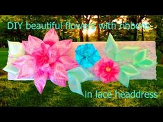 DIY moños de pétalos de flores - fashion accessories satin ribbons flower petals - YouTube