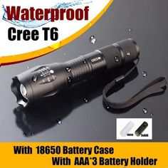 New Powerful Zoom 3800 lumen Flashlight lantern Cree XM-L T6 LED Tactical Police Torch light for rechargeable18650 AAA battery
