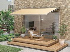彩風 あやかぜ C型 手動式-LIXIL リクシル(トステム) - オーニングならエクスショップ Outdoor Spaces, Outdoor Living, Outdoor Decor, Greenhouse Cafe, Porch Plans, House Landscape, Balcony Design, Home Deco, Outdoor Furniture Sets