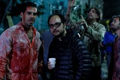 Eli Roth with Nicolas Lopez in Chile. Aftershock
