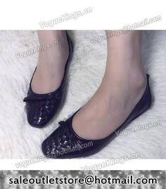 Bottega Veneta Upper Calfskin Leather Woven Ballet Shoes Black #women fashion outfit #clothing style