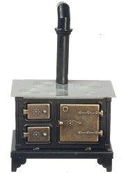 Black Metal Stove [AZT6000] - $21.99 : Miniature Designs, Full Service Dollhouse Miniature Shop in Georgia