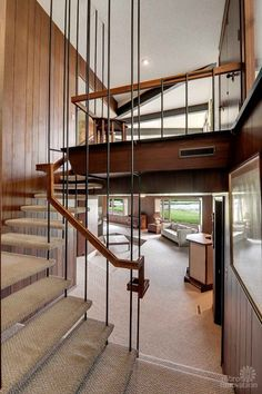mid century stair case   Golden Valley Home For Sale This is it! I have died and gone to heaven and it is this HOUSE.