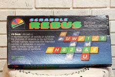 Hey, I found this really awesome Etsy listing at https://www.etsy.com/listing/208325989/vintage-scrabble-rebus-board-game-symbol