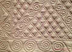 Detail - 'Jester Quilt', c 1920, Carmarthenshire