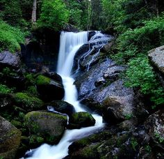 Waterfall above Triberg, Germany in Black Forest