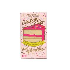 Our most-loved Confetti Cake & Sprinkles Bar is crafted with all natural sprinkles, white chocolate and bits of gluten-free vanilla birthday cake. Chocolate Wafers, Melting Chocolate, White Chocolate, Strawberry Bars, Fresh Eats, How To Roast Hazelnuts, Confetti Cake, Chocolate Dipped Strawberries, College Gifts