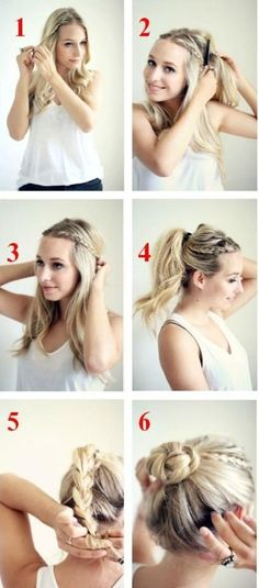 Easy Updo…work hair