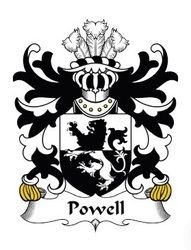 Powell family crest Wales