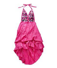 Another great find on #zulily! Pink Sequin Halter Dress - Girls #zulilyfinds