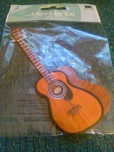 Scrapbook StickerAcoustic Guitar by BrittsBooth on Etsy, $5.99