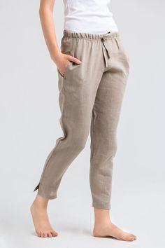 Excited to share this item from my shop: Linen pants and top Linen kimono jacket Linen kimono top Black linen pants Olive linen bathrobe Women linen trousers Black linen robe Black Linen Pants, Linen Pants Women, Linen Trousers, Trousers Women, Pants For Women, Smart Casual Look Women, Loose Pants Outfit, Moda Casual, Fashion Pants