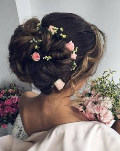 Wedding Updo Hairstyles for Long Hair from Ulyana Aster_08 ❤ See more: http://www.deerpearlflowers.com/wedding-updo-hairstyles-for-long-hair-from-ulyana-aster/