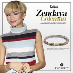 #Spotted: The stunning Zendaya Coleman in John Hardy jewelry at the Kode Magazine 10th Issue Party in West Hollywood.   Credits: HawtCeleb