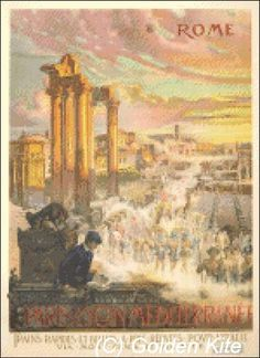 Italy Rome Poster - Solid colors