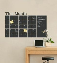 Diy Reused Recycled Repurposed Rethinked Reclaimed Chalkboard Wall Calendarsdiy Calendarchalkboard Paintoffice