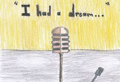 """""""I Had a Dream"""" by Warren M., 5th Grade, Sarasota, Florida, 2011 Embracing Our Differences Exhibit, via embracingourdifferences.org"""