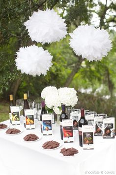 Lindt Chocolate and Wine Pairing Party inspiration from @chocandcarrots
