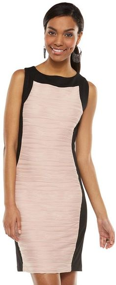 Dana buchman colorblock pintuck sheath dress – women's  Was: 95.00$ Now: 69.99$
