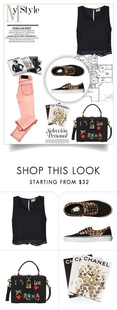 """""""Sin título #393"""" by lululafitte on Polyvore featuring moda, ONLY, Vans, Dolce&Gabbana, Cheap Monday, Assouline Publishing y Chanel"""
