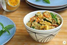 Insalata di Quinoa e Pollo al Curry - un ottimo piatto unico, completo e gustoso, molto buono sia appena fatto che consumato freddo.