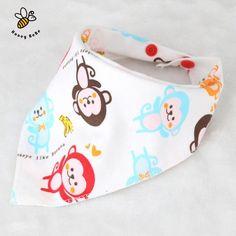 Double-Sided Cartoon Saliva Pocket Cotton Bib Baby Bib Waterproof Saliva Bib NB