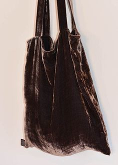 Taupe Velvet Book Bag via KWOSHARE | Store. Click on the image to see more!
