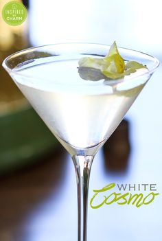 White Cosmo: vodka, St. Germaine, white cranberry and lemon.